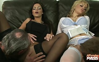 Black Angelica and Britney enjoy getting fucked by their husbands