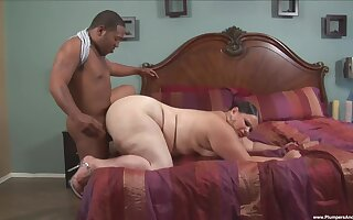 Fat white woman Victoria Secret fucked by a fat black cock