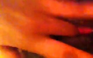 Ebony girl masturbating and squirting