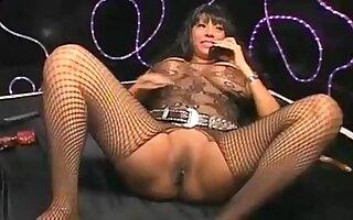 My ebony girlfriend with big boobs enjoys masturbating on cam