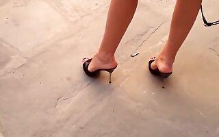 Horny amateur Foot Fetish, MILF sex clip