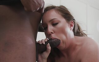Doggy sensations lead someone's skin fit together on touching crave of black sperm