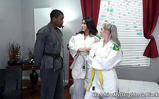 Excellent women quota a huge black dick prevalent Karate XXX triptych