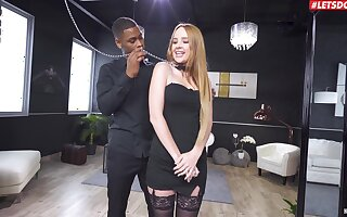 Desirable blonde babe Kaisa Nord gets say no to bore rammed by a BBC