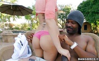 Hardcore interracial shagging with hot ass pornstar Riley Reid