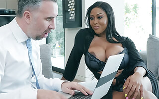 Agent nails huge-chested writer greatest extent spouse parts